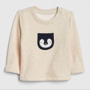 NWT Gap Baby Penguin Fleece Sweater NB
